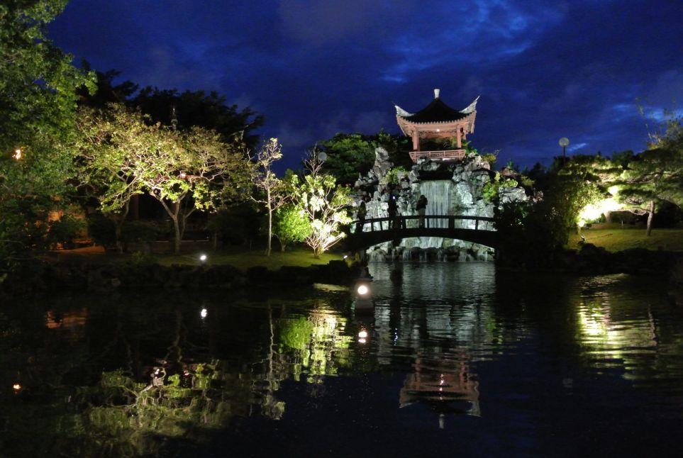福州園 ライトアップ2