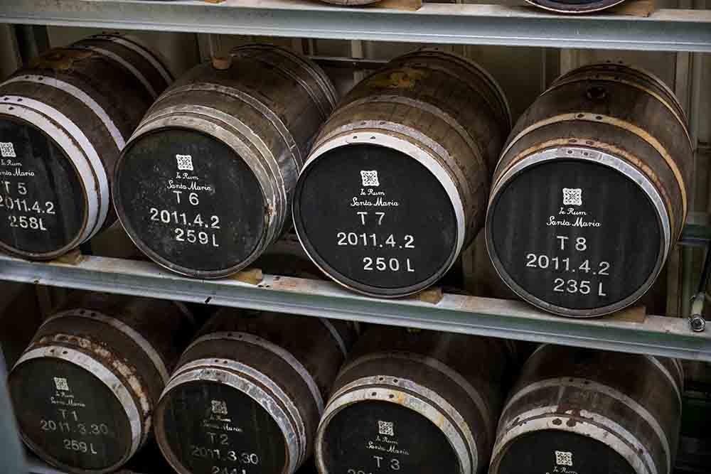 貯蔵庫内の樫樽
