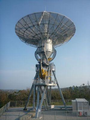 沖縄宇宙通信所 第2可搬局 パラボラアンテナ