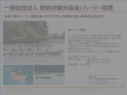 一般社団法人 恩納村観光協会/ハーリー競漕