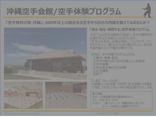沖縄空手会館/空手体験プログラム