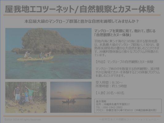 屋我地エコツーネット/自然観察とカヌー体験