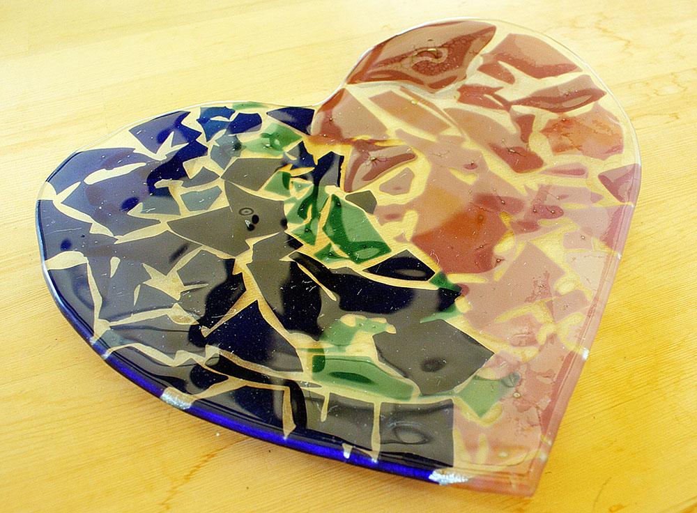 沖縄ガラス星砂体験