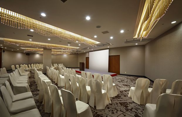 Banquet hall for conference style.